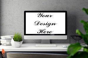 Mockup Poster, Computer Mockup