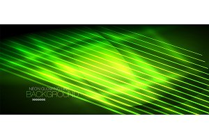 Neon green smooth wave digital abstract background
