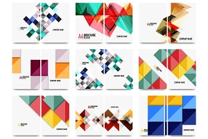 Collection of business annual report brochure templates
