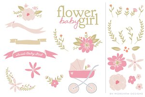 Flower Baby Girl | Vector