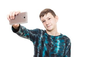 the boy with the phone