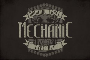Mechanic Modern Label Typeface