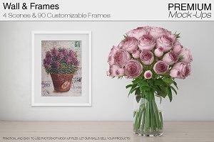 Spring Flowers & 90 Frames Mockup