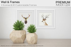 Wall & Frames Mockup - Plants