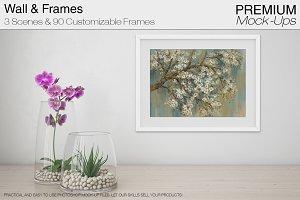 Wall & Frames Mockup - Orchid