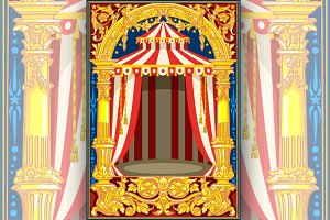 Carnival Circus Birthday Card