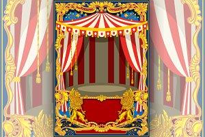 Carnival Poster Vector Frame