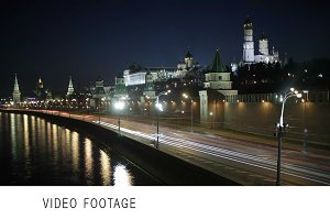 Quay near the Moscow Kremlin.