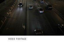 Car traffic at night.