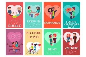 Be My Valentine Romance Set Vector Illustration