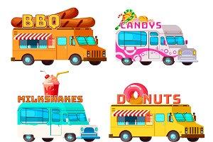 Food Trucks Set
