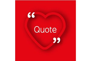 Heart frame, quote bubble