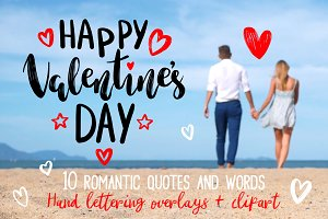 Valentine's Hand Lettering Overlays