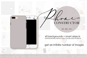 IPhone. Case constructor.