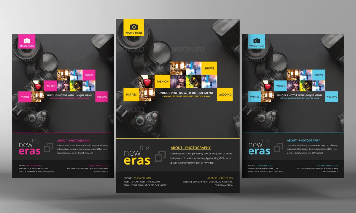 Photography Flyer Template Flyer Templates Creative Market - Photography brochure template free