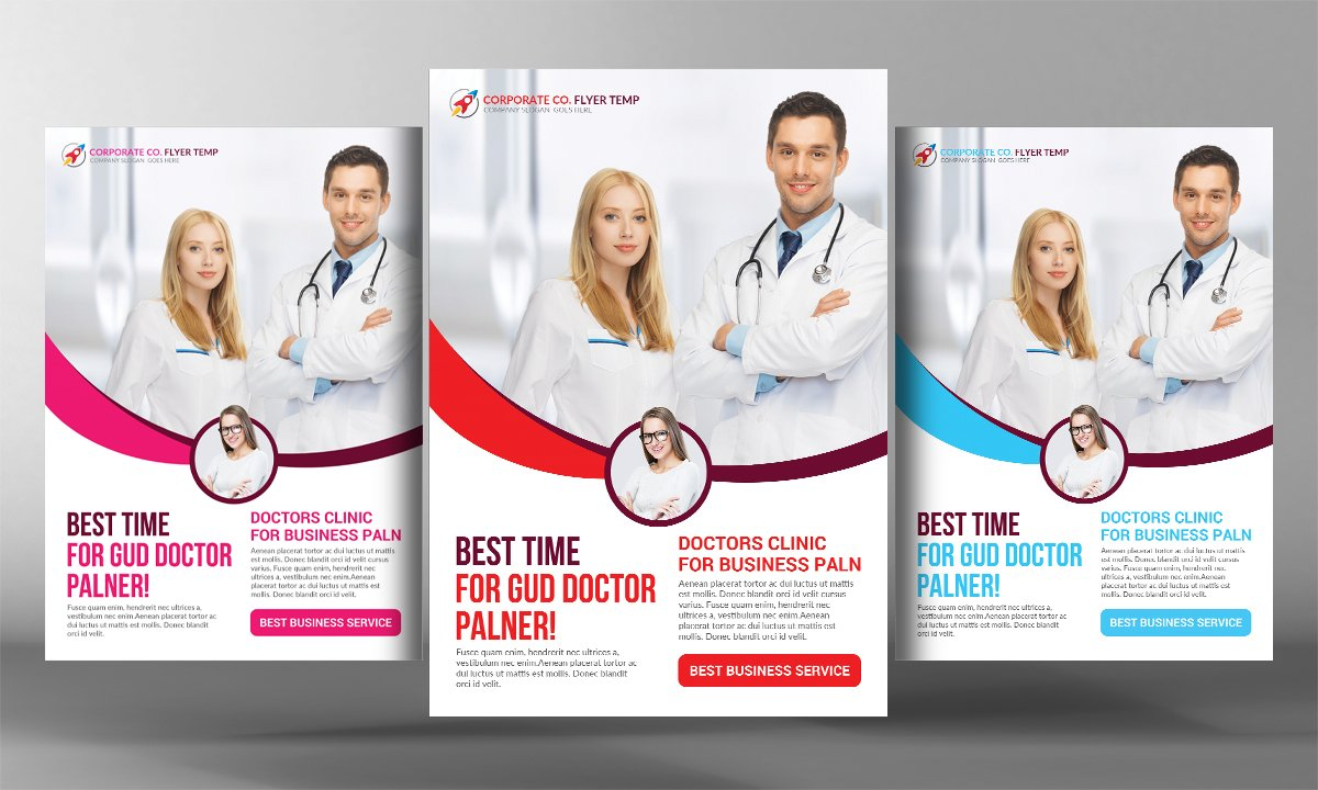premium medical flyer template flyer templates creative market