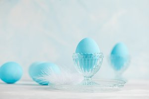 Blue easter decoration
