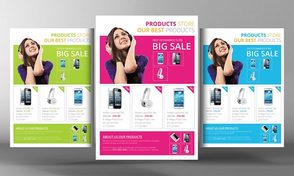 Products Flyer Template Flyer Templates Creative Market - Product brochure template