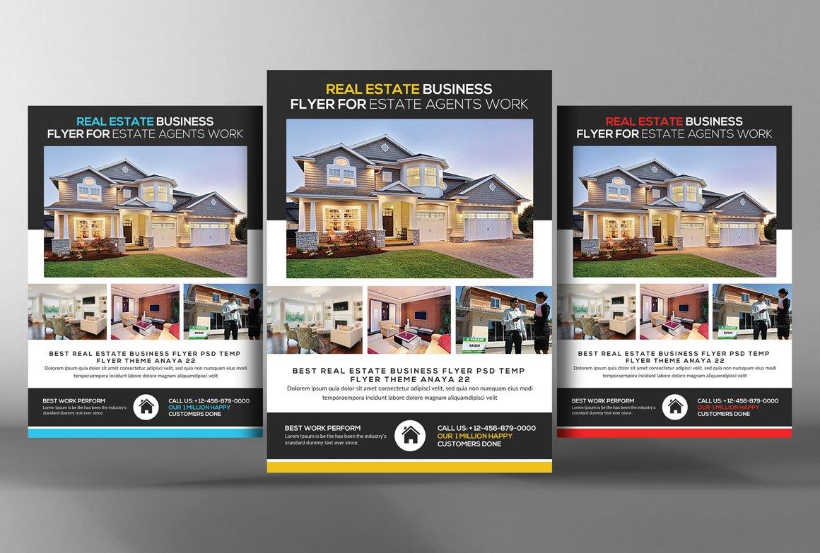 real estate flyer templates flyer templates creative market