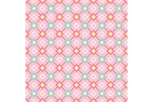 Decorative geometric pattern in pink