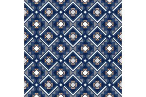 Decorative geometric pattern in blue