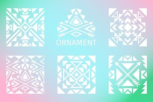 Ornamental squares set