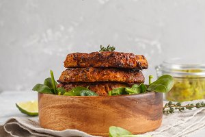 baked sweet potato burgers
