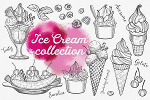 Ice Cream hand-drawn graphic