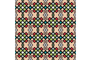 Geometric pattern in vitnage colors