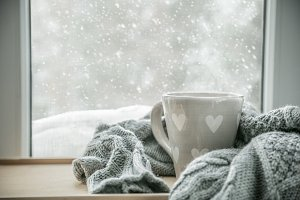 Winter cozy hot chocolate