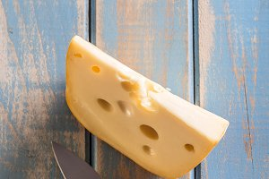 Emmental cheese piece