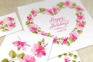 Wedding Invitation Cards Set.