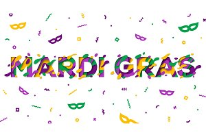 Carnival Mardi Gras greeting card
