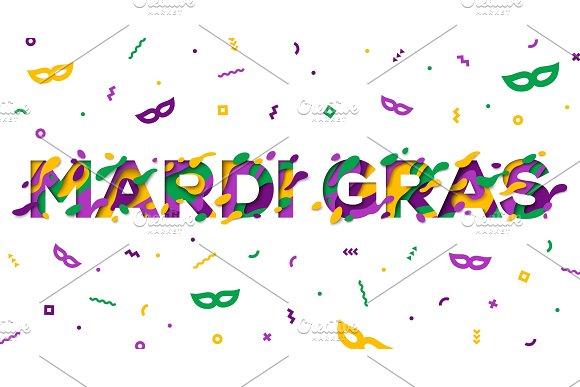 Carnival Mardi Gras greeting card