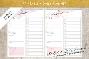 Printable Daily Planner Design #1