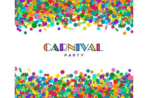 Colorful carnival confetti card