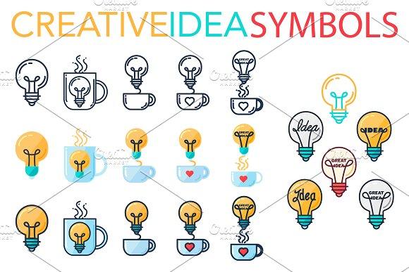 Creative Idea Symbols