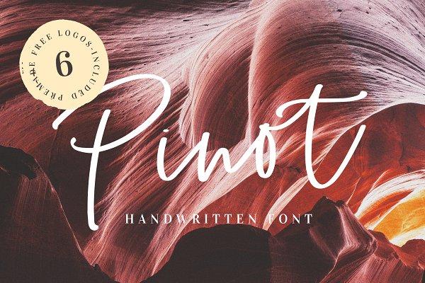 Pinot Handwritten Font & Logos