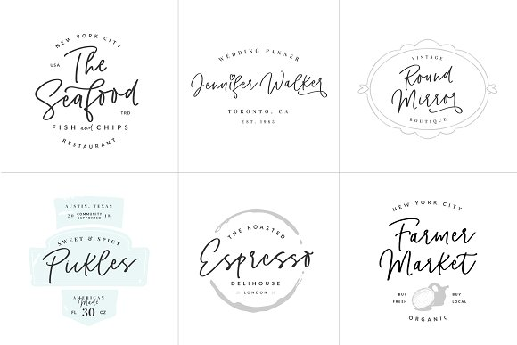 Pinot Handwritten Font & Logos in Script Fonts - product preview 4