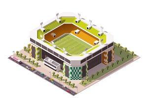 Vector isometric soccer arena