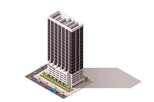 Vector isometric building
