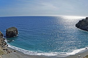 beach on the tropical coast of Granada