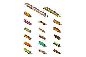 Vector isometric trains