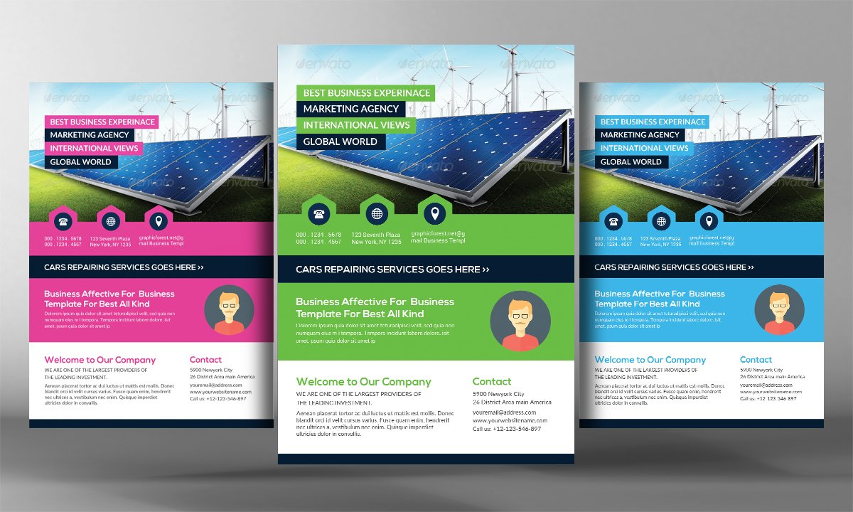 Renewable Energy Go Green Flyer Temp Flyer Templates