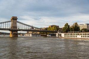 Cruise ships in Danube river in Budapest