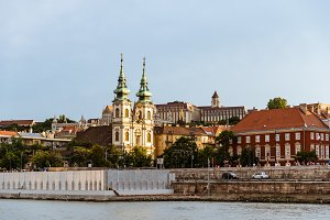 Cityscape of Buda with the church of saint Ann in Budapest