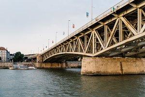 Petofi Bridge over Danube River in Budapest