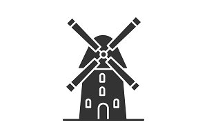 Windmill glyph icon
