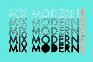 Mix Modern (Layering Font Family)