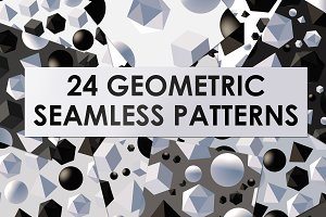 24 vector geometric patterns